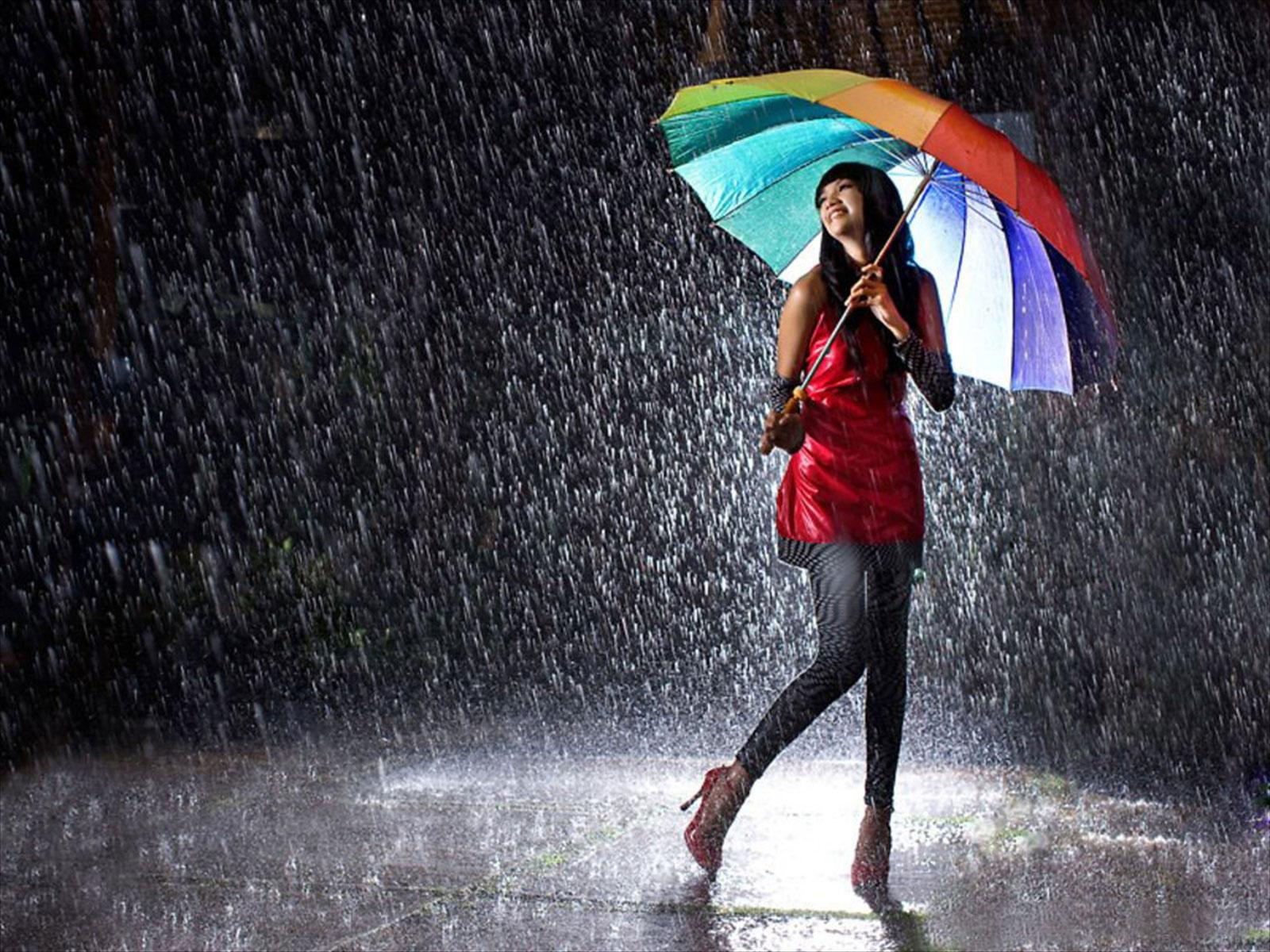 Girl In Rain HD Wallpaper