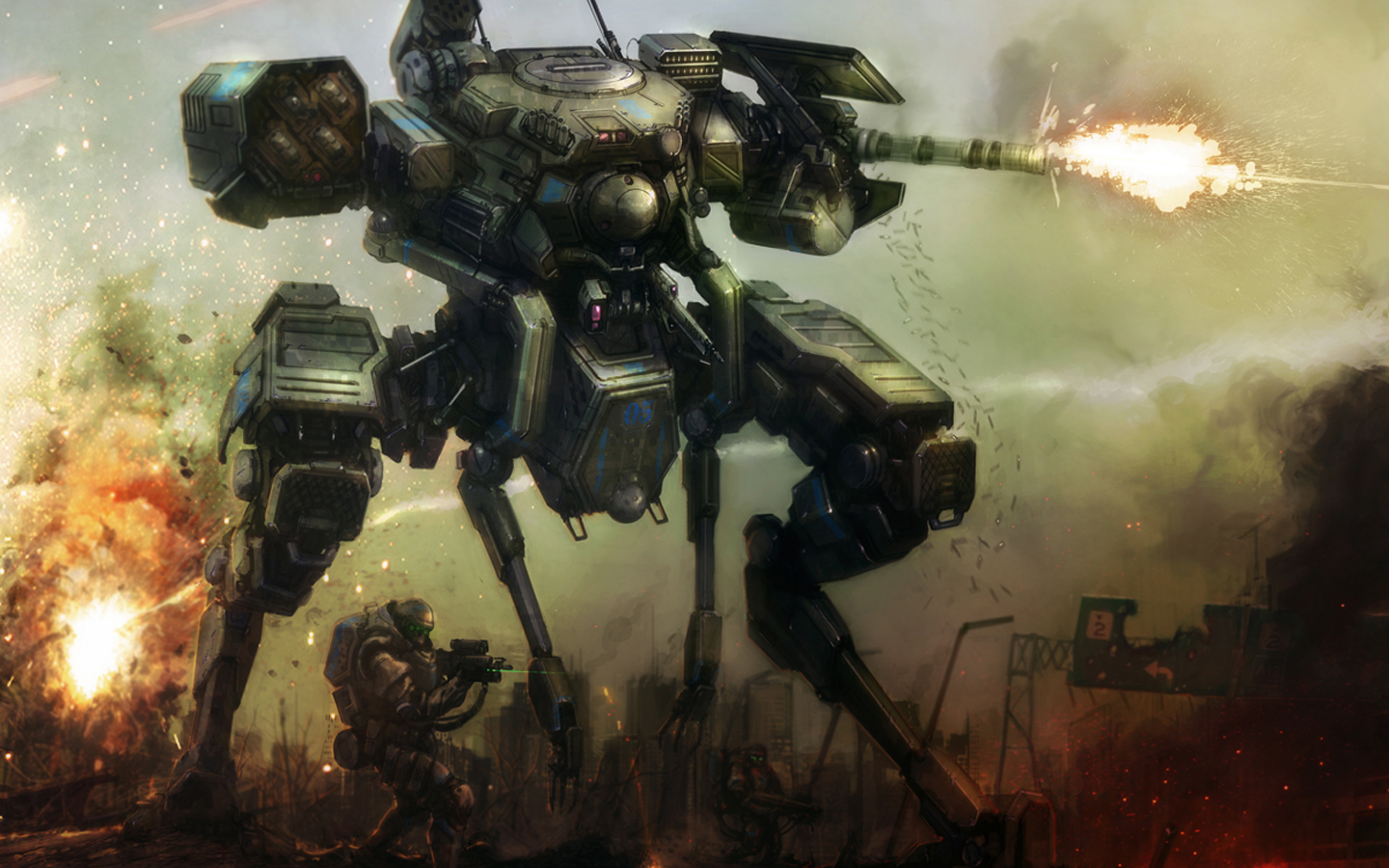 1440x900 Robots War wallpaper