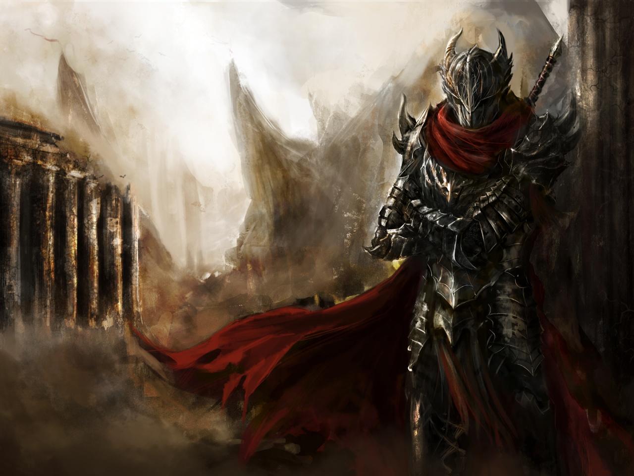 Dark warrior artwork Wallpaper in 1280x960 Normal