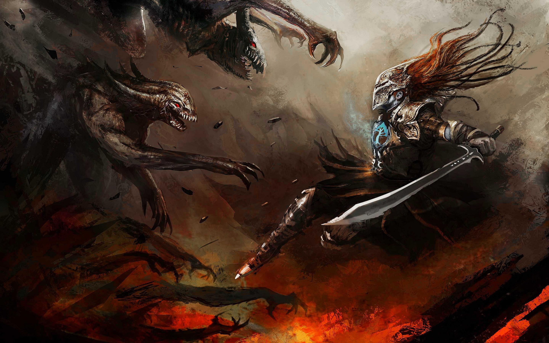 Warrior vs monsters