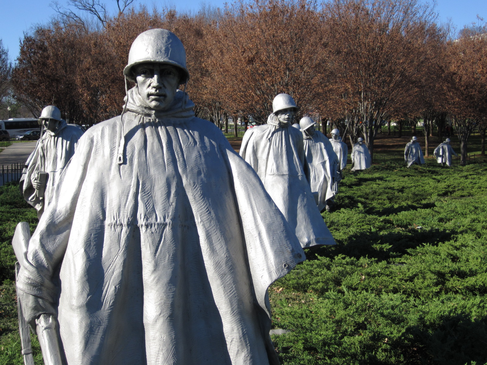 "If the Vietnam Veterans Memorial is one of the most moving, the Korean War Veterans Memorial is perhaps the most haunting. With its guiding inscription "" ..."