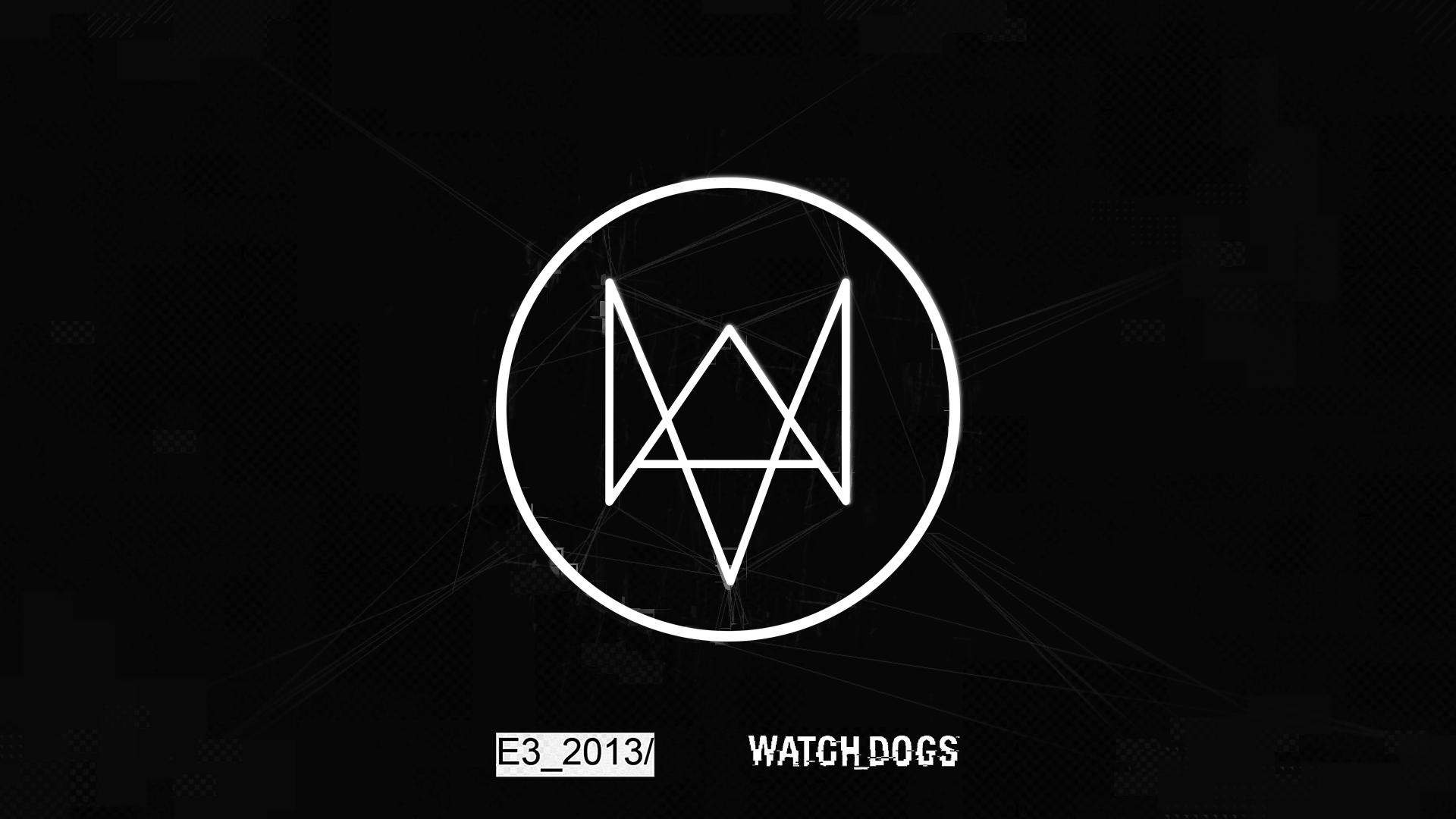 "So the above image was a wallpaper that Ubisoft released from e3 for watchdogs. I always thought the watch-dogs logo was some fancy ""W"" or something, ..."