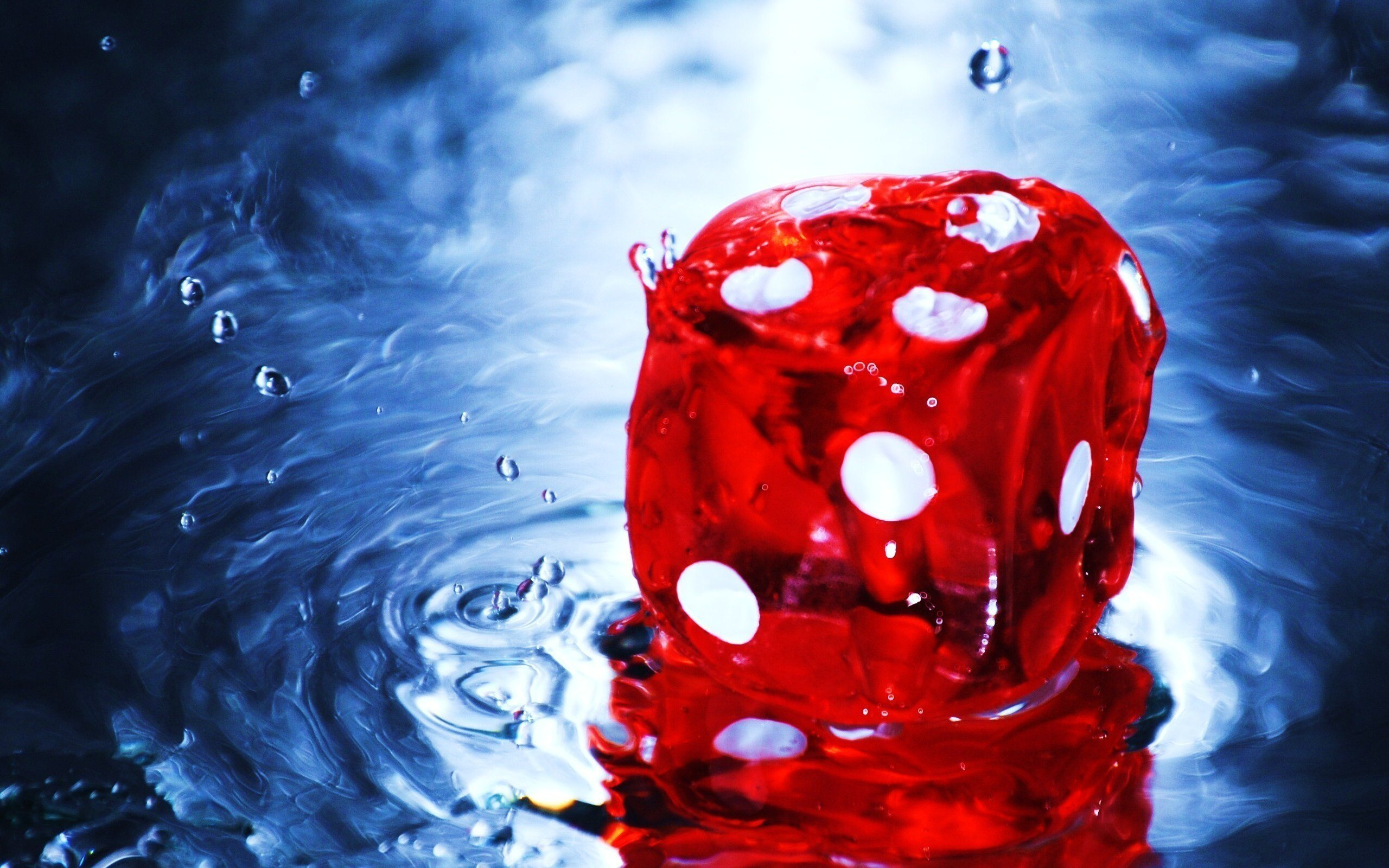 Water red dice