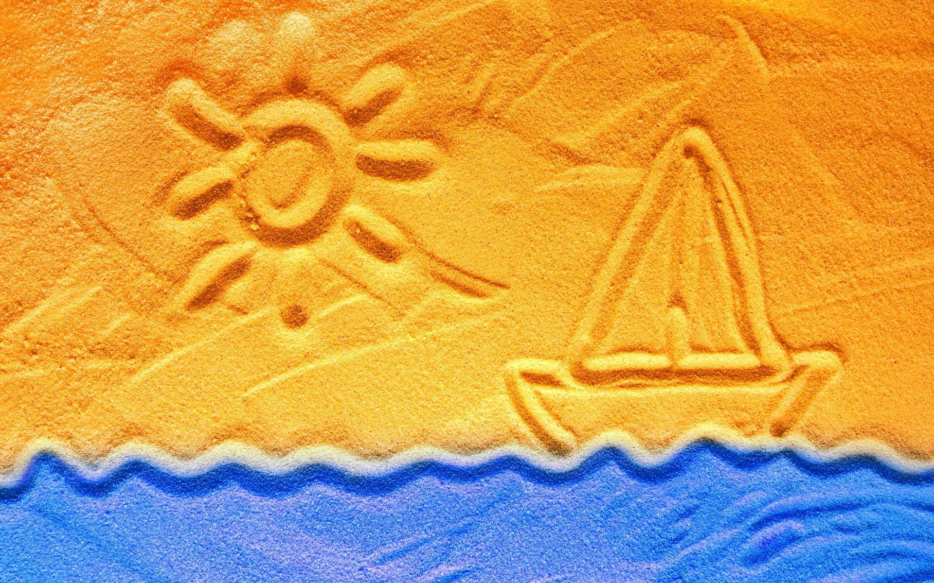 Water Sun Boat Sand