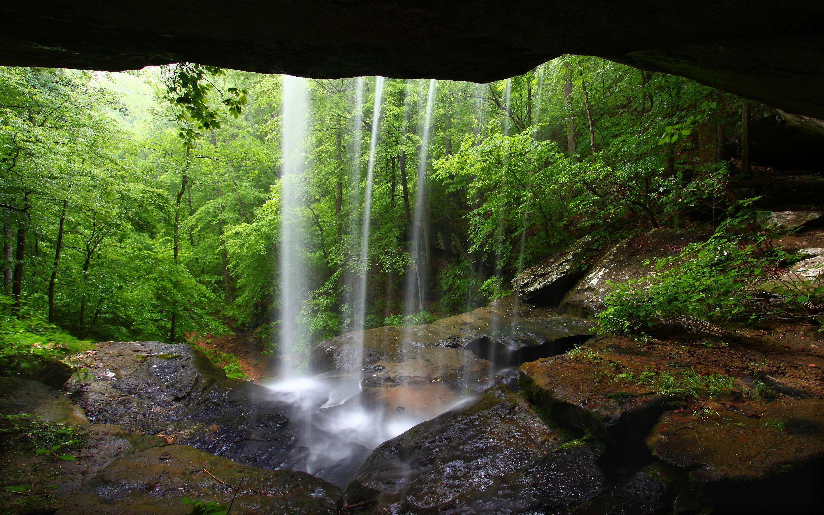 Waterfall cave