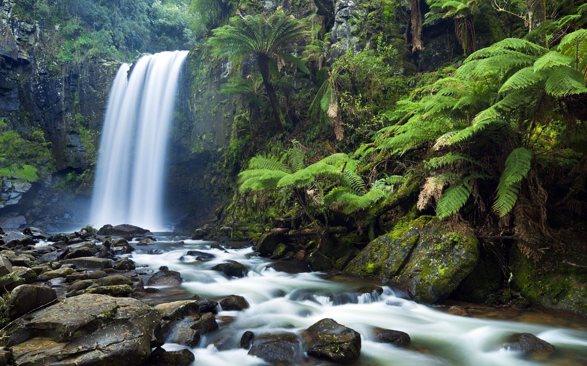 Rocky Waterfall Wallpaper 5322