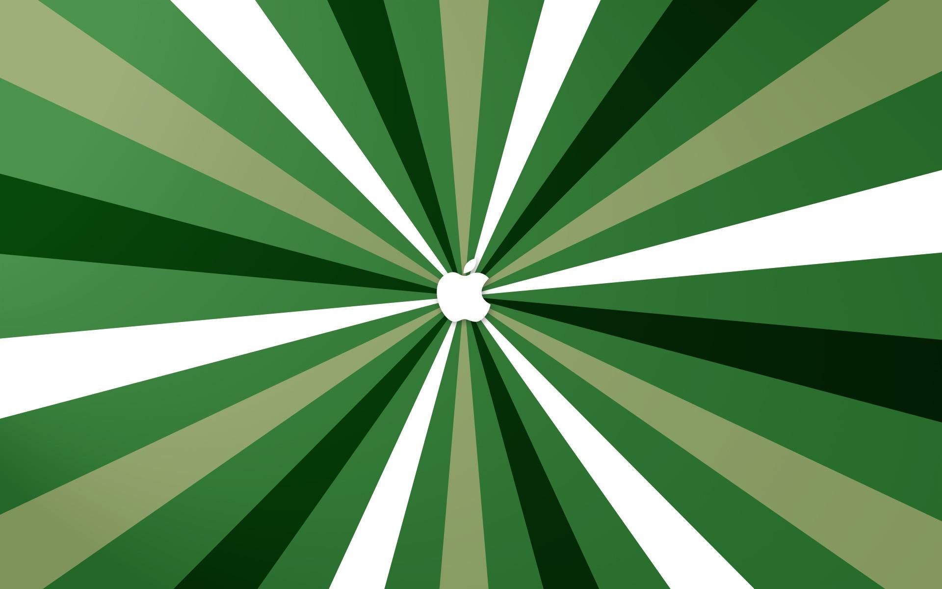 Green Stripes Apple HD