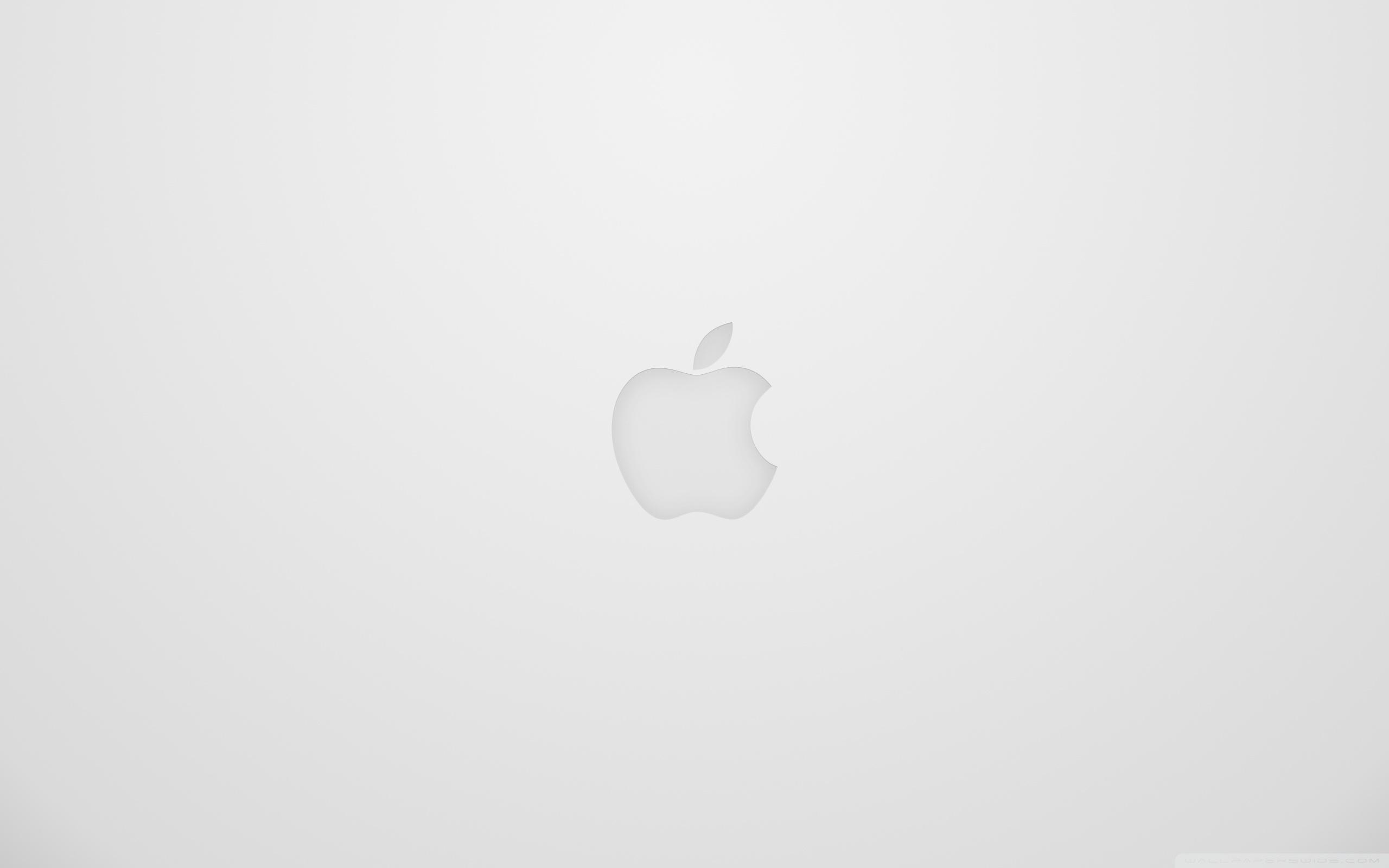 White Apple Logo Wallpaper