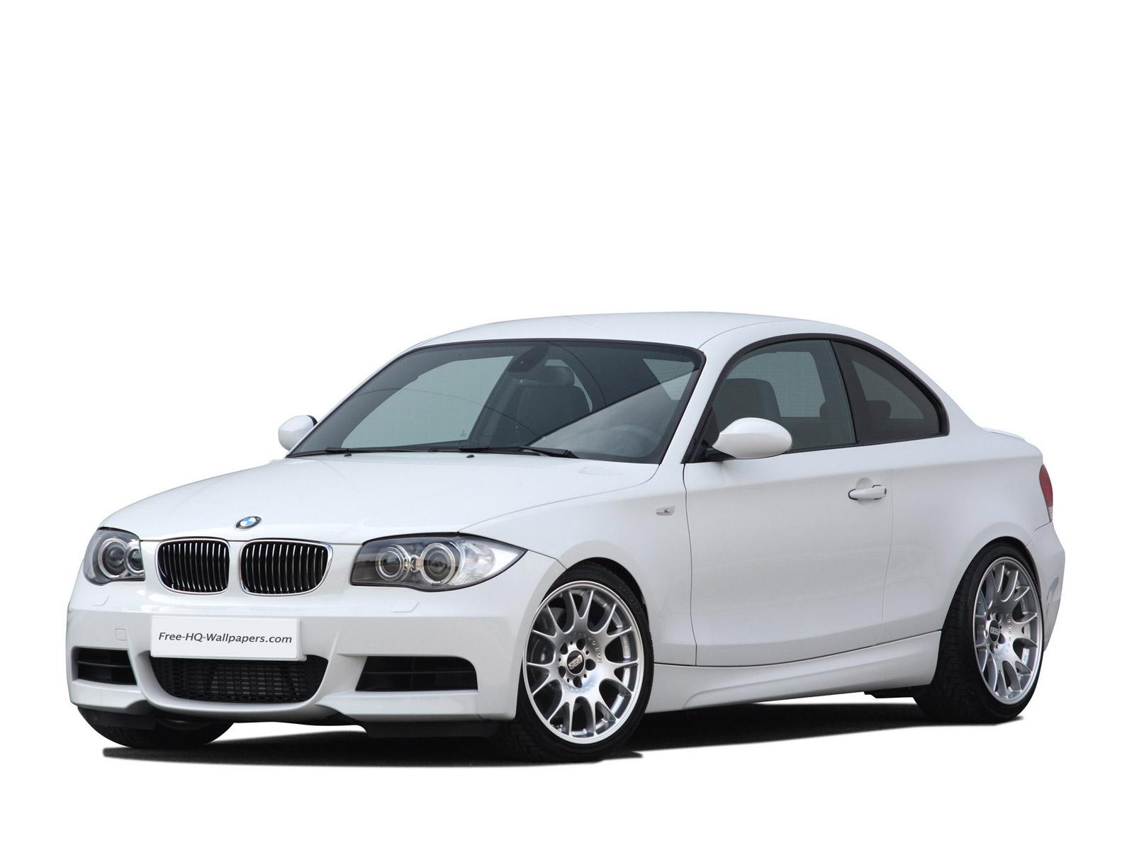 White BMW 1 series coupe 1600×1200