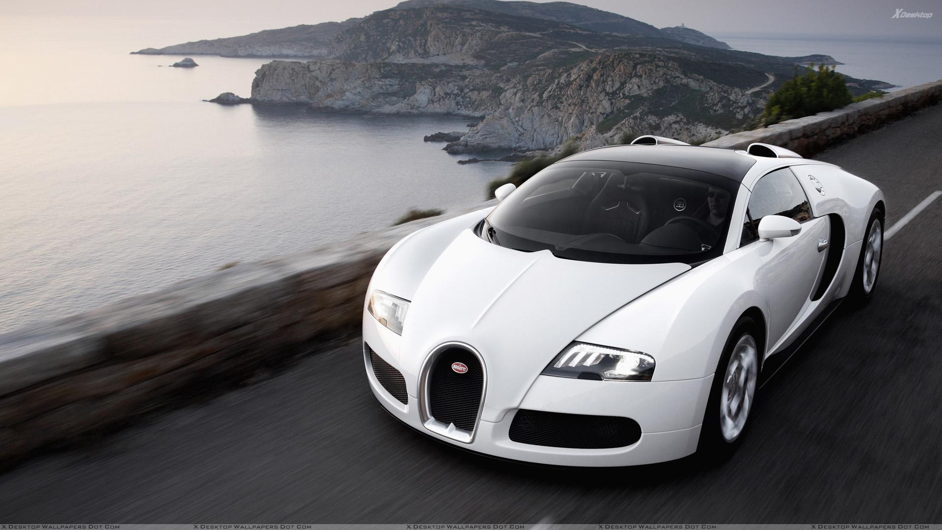 White Bugatti Veyron Wallpaper 01