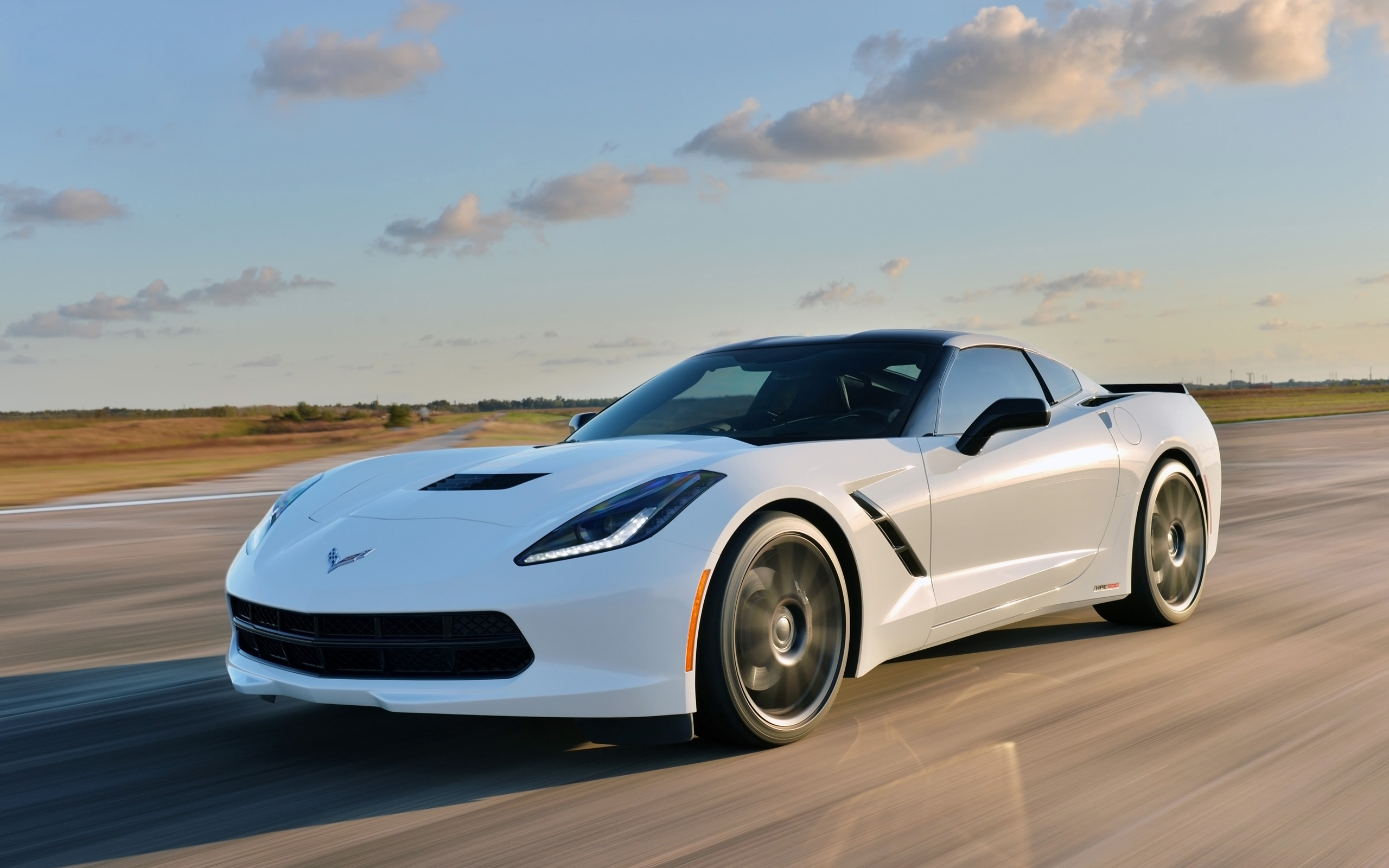Awesome White Corvette Wallpaper