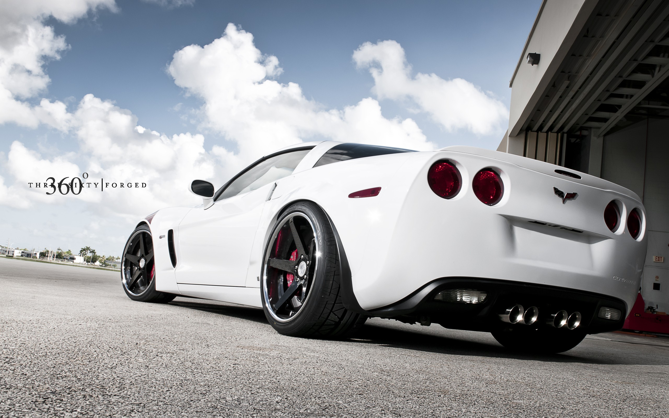 White Corvette Wallpaper