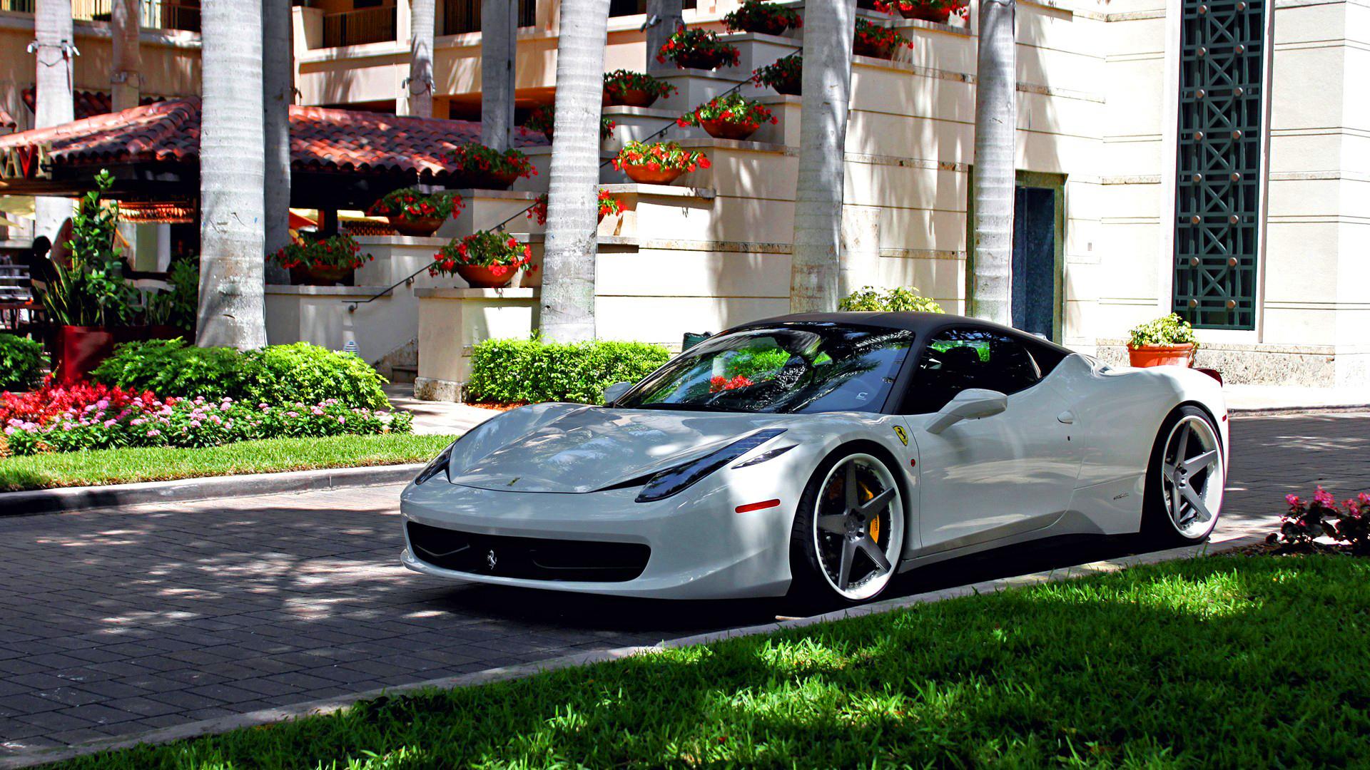 White ferrari 458 italia 1