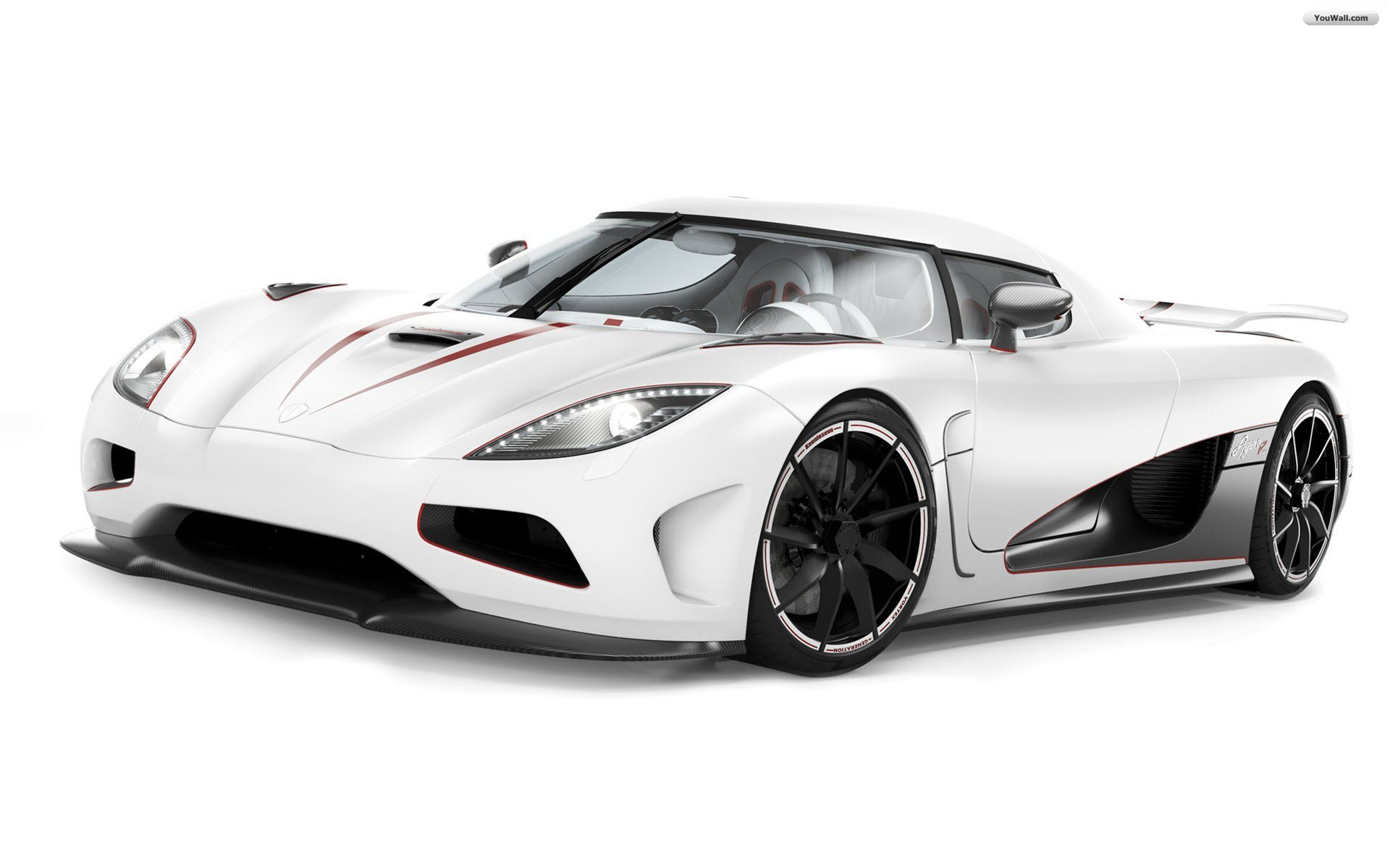 White Ferrari Background