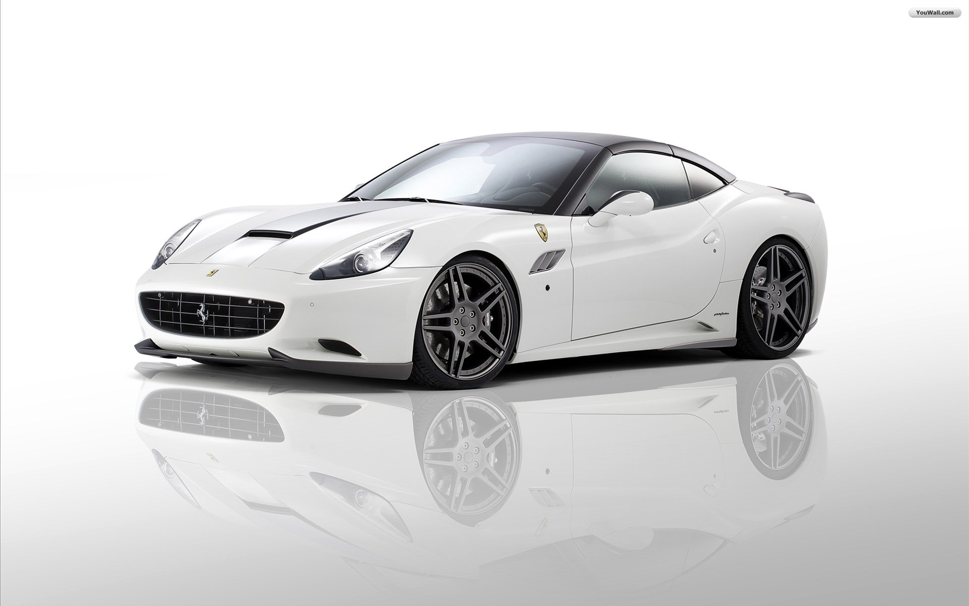 ... White Ferrari Wallpaper 02 ...