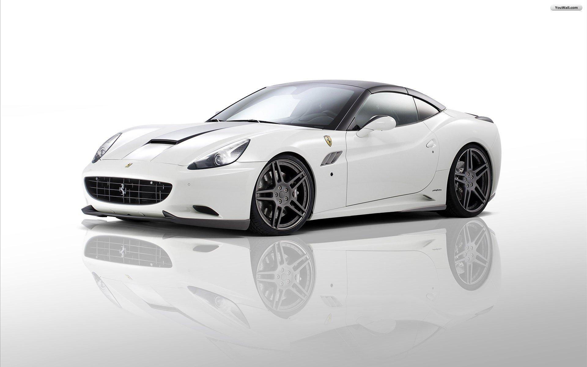 White Ferrari Wallpaper 1920x1200 4190