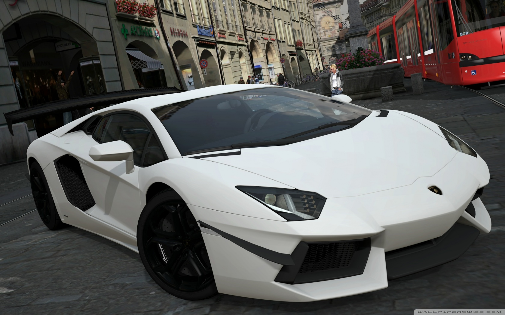 White Lamborghini Aventador LP700-4 Photo