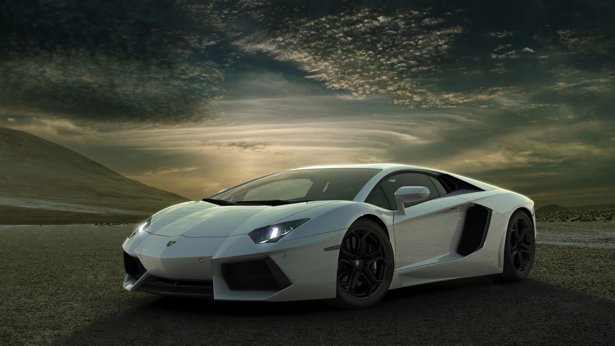 White Lamborghini Background