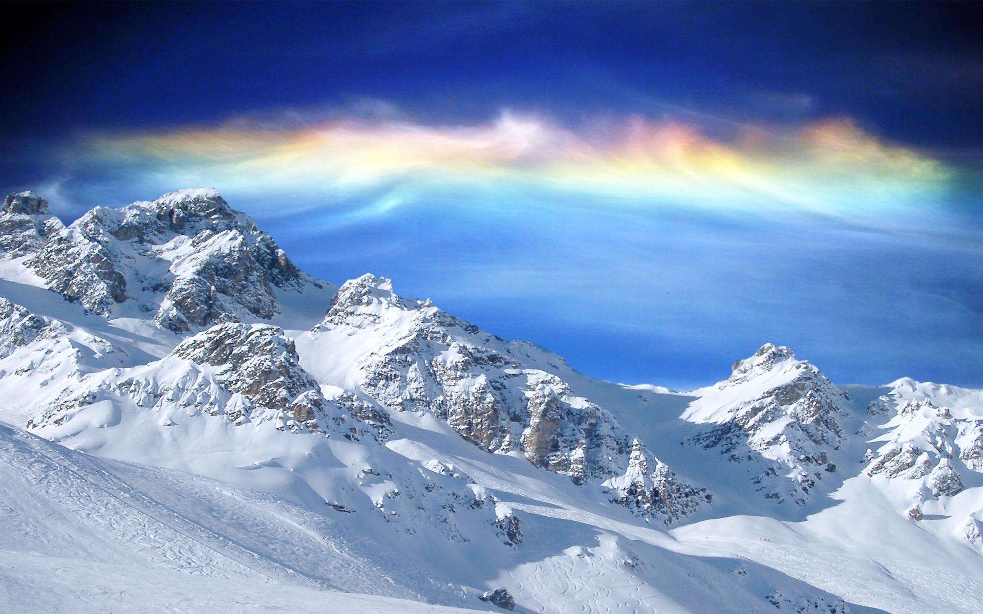 White Mountain Wallpaper
