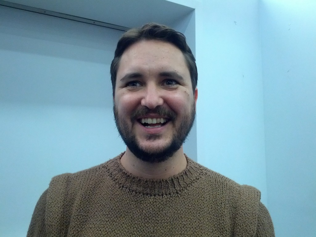 Wil Wheaton wears Wesley Crusher's 1987 sweater in 2013