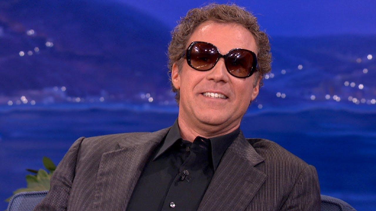 Will Ferrell Enjoys Wearing Ladies Sunglasses - CONAN on TBS