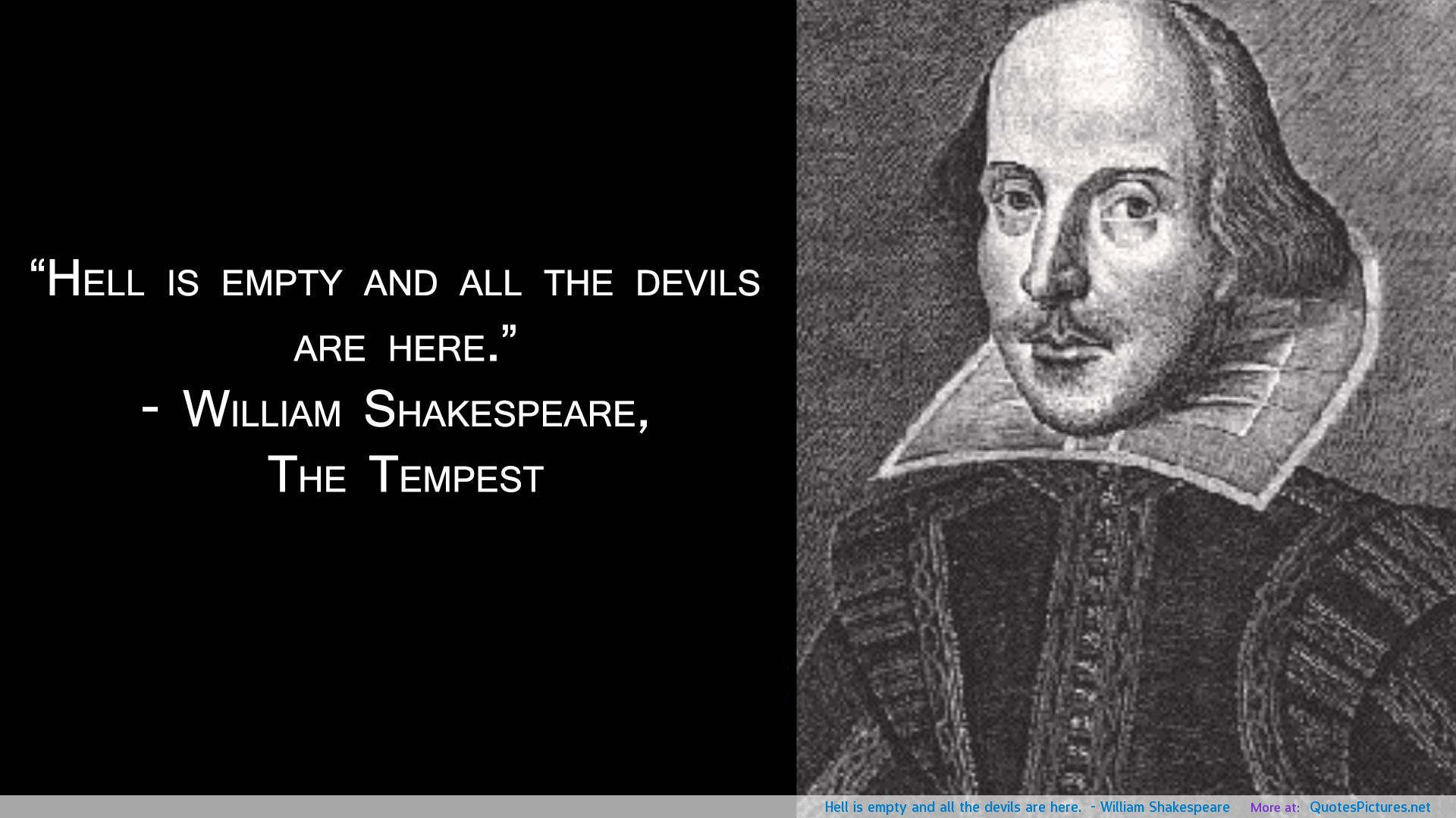 ... William Shakespeare Quote the Devil ...