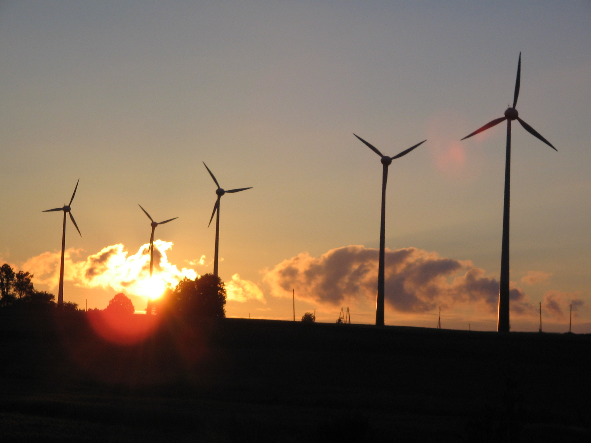 File:Modern windmills at sunset.jpg