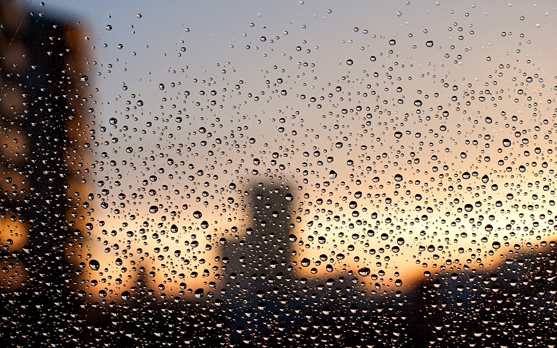 Water drops window