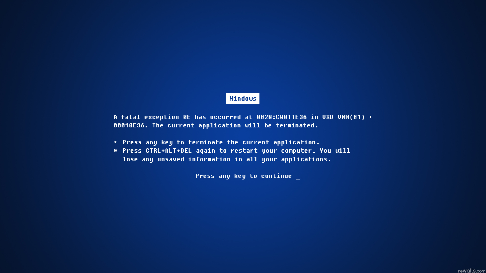 Windows Fatal Error