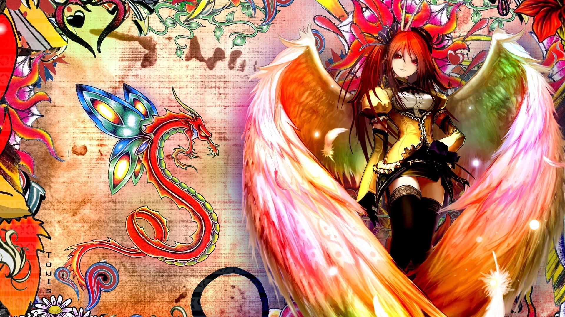 Description: The Wallpaper above is Winged anime girl Wallpaper in Resolution 1920x1080. Choose your Resolution and Download Winged anime girl Wallpaper