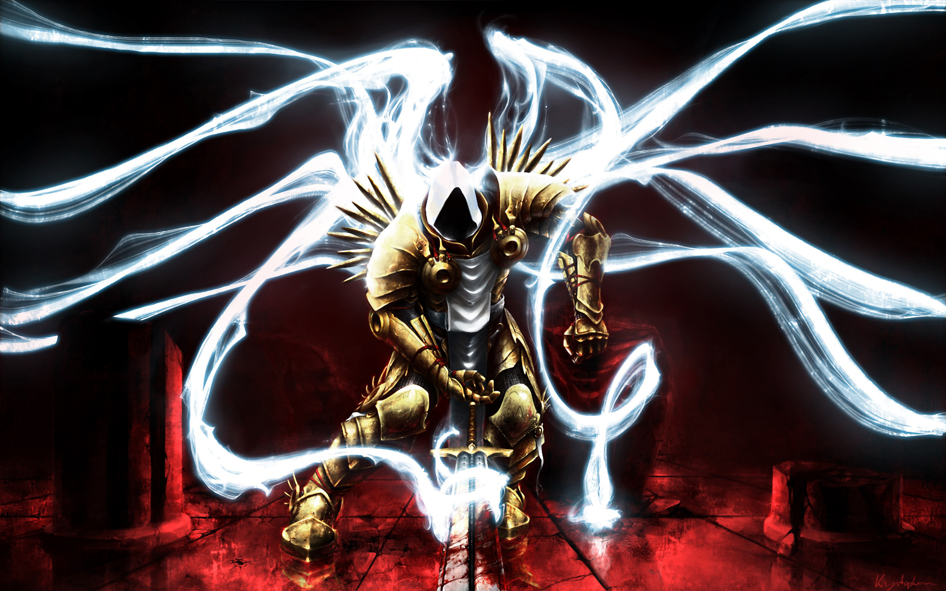 Winged warrior knight
