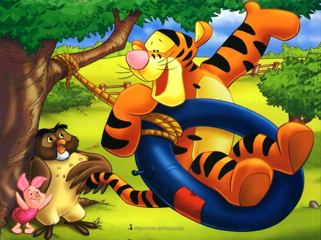 Winnie the Pooh and Tigger Cartoon