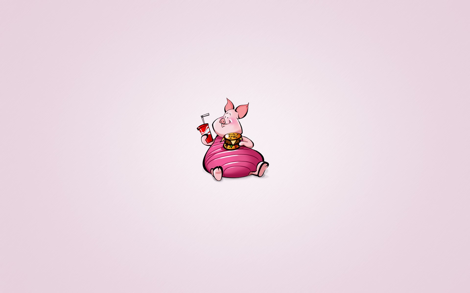 Winnie-the-Pooh Piglet Drink Burger Cartoon Funny