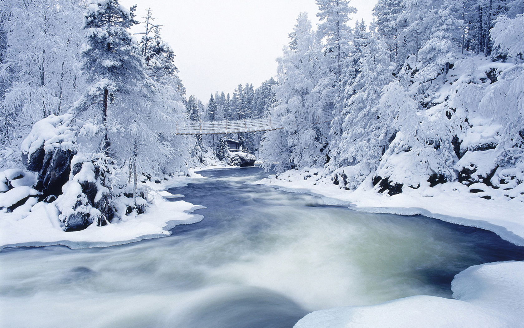 Awesome Bridge And Ice Winter Wallpaper High Definition Wallpaper ...
