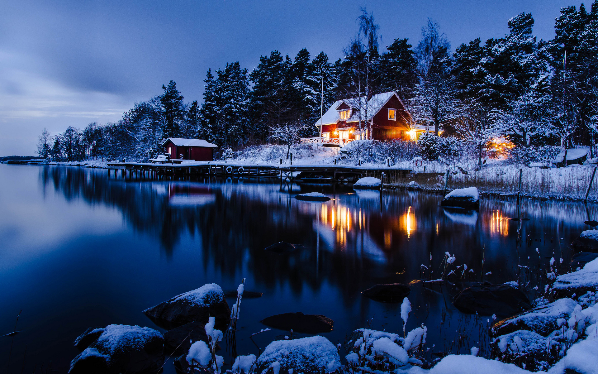 ... Winter Night Wallpaper · Winter Night Wallpaper