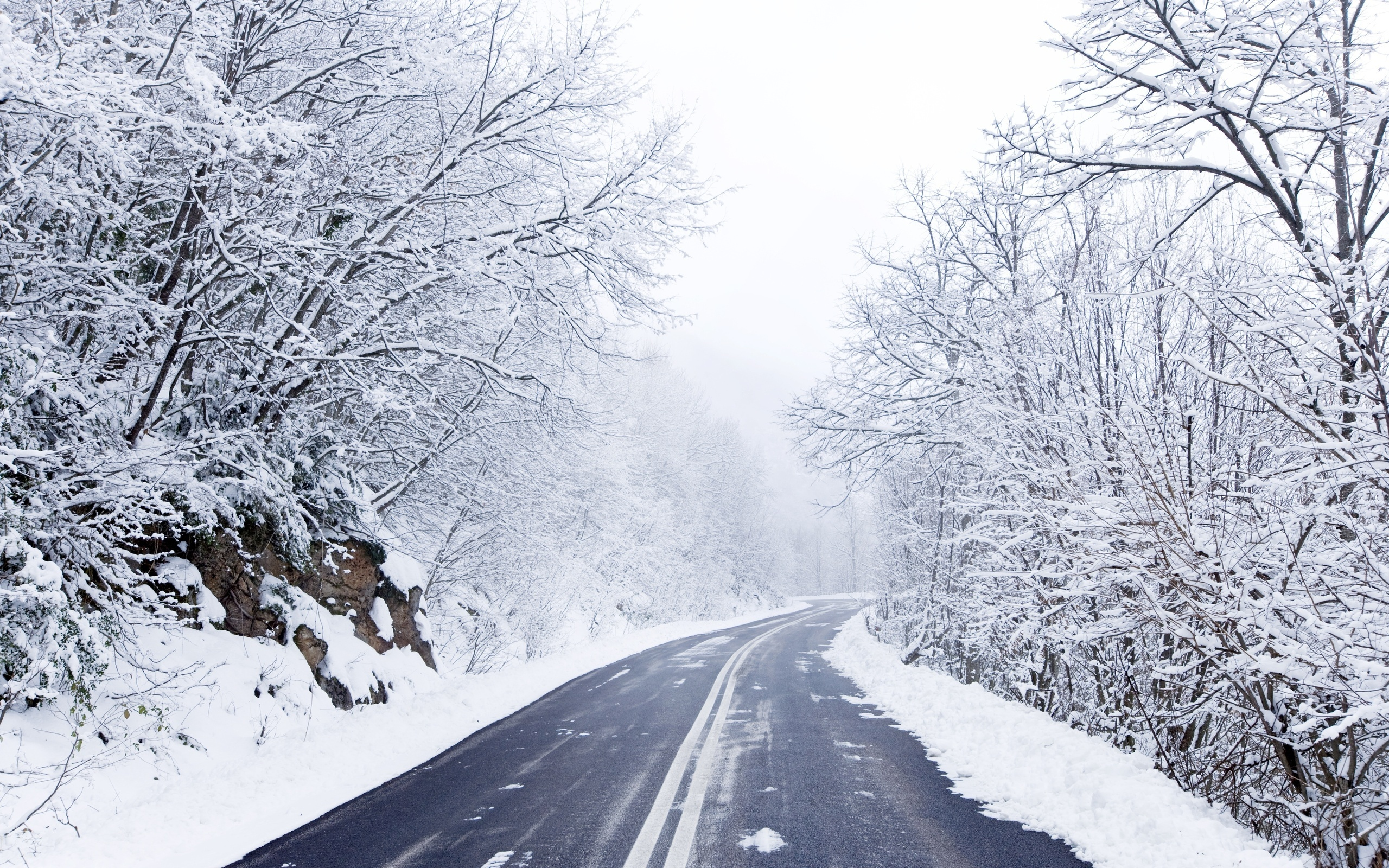 Winter Road Background