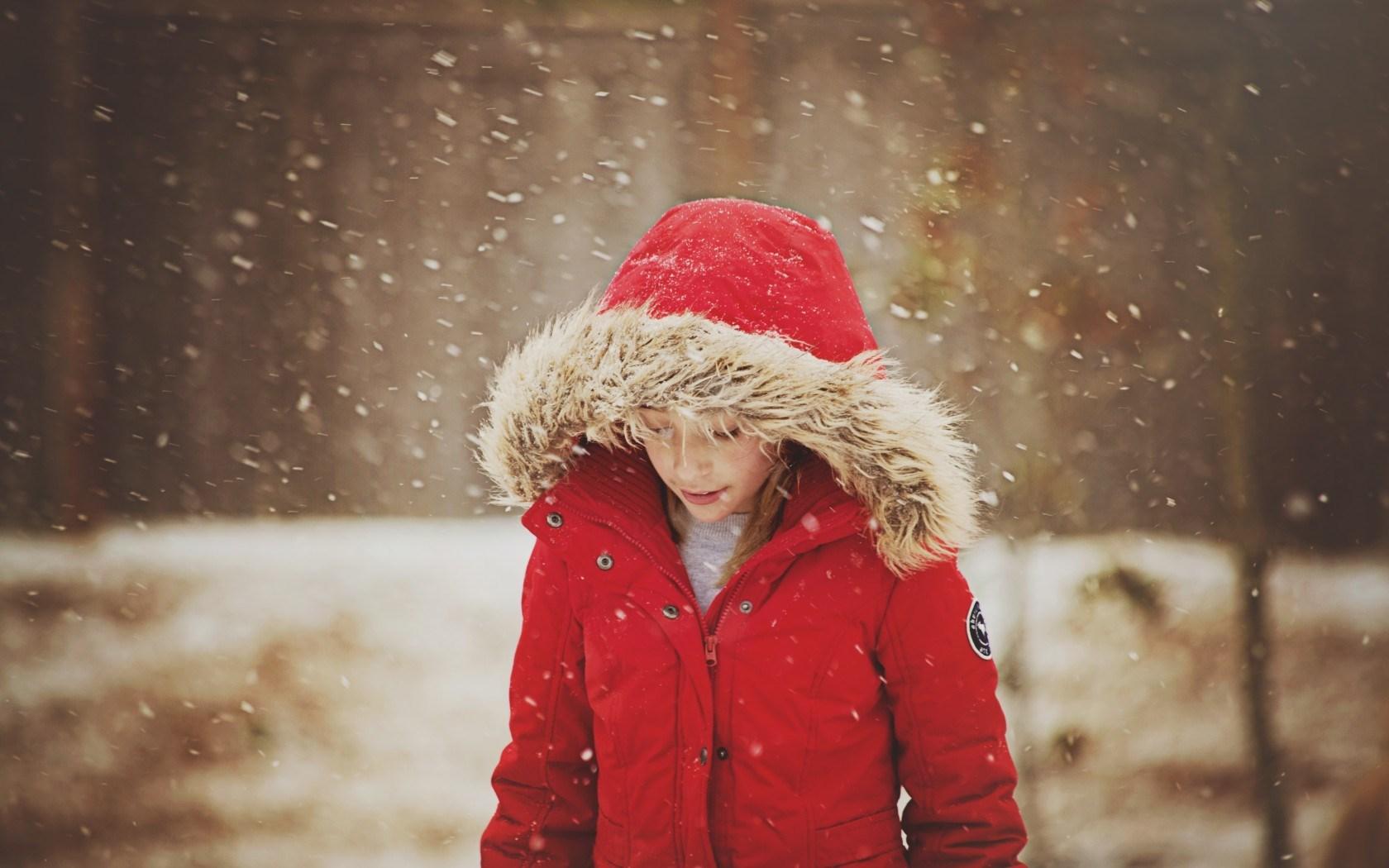 Snow Girl Child Winter Snowflakes Mood