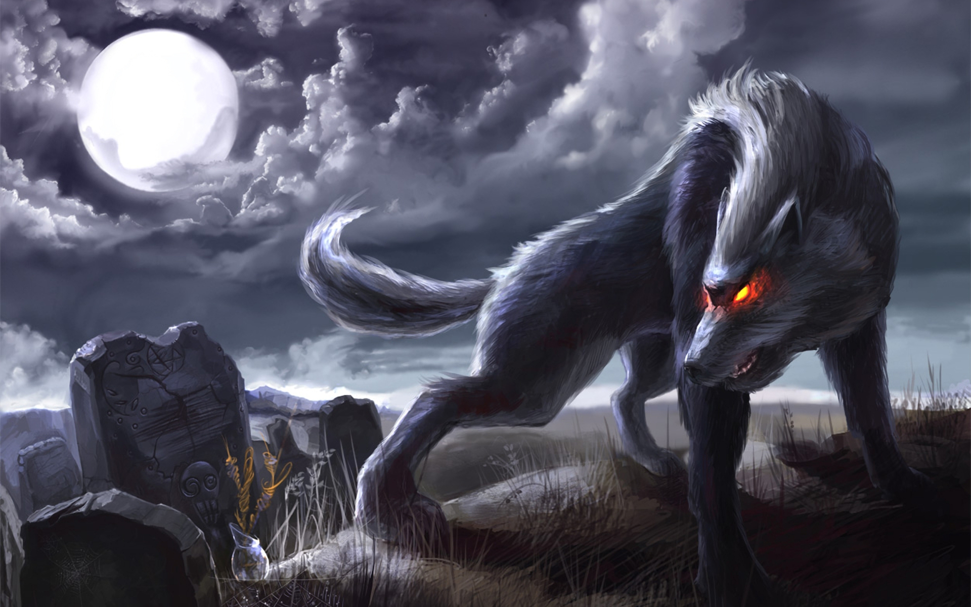 Wolf moon artwork