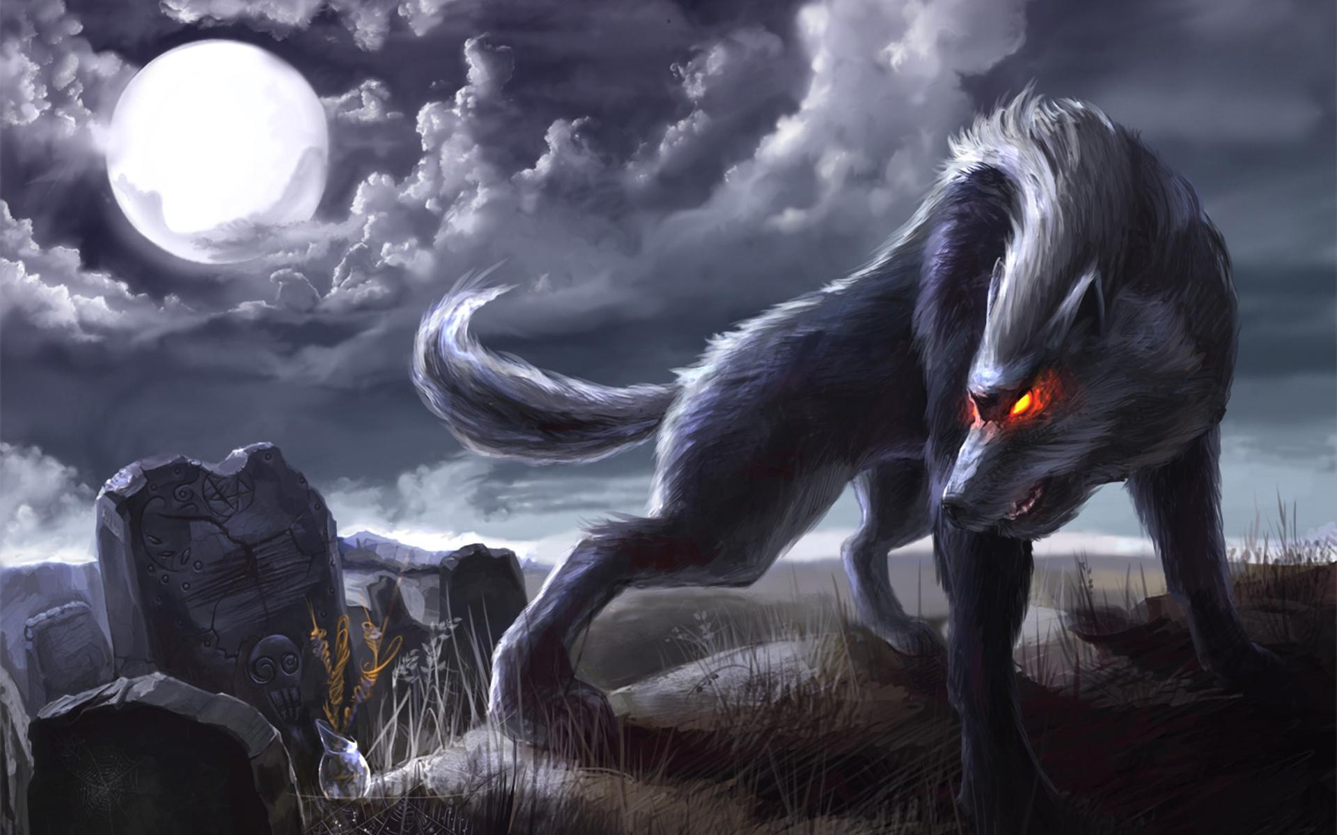 Wolf moon artwork