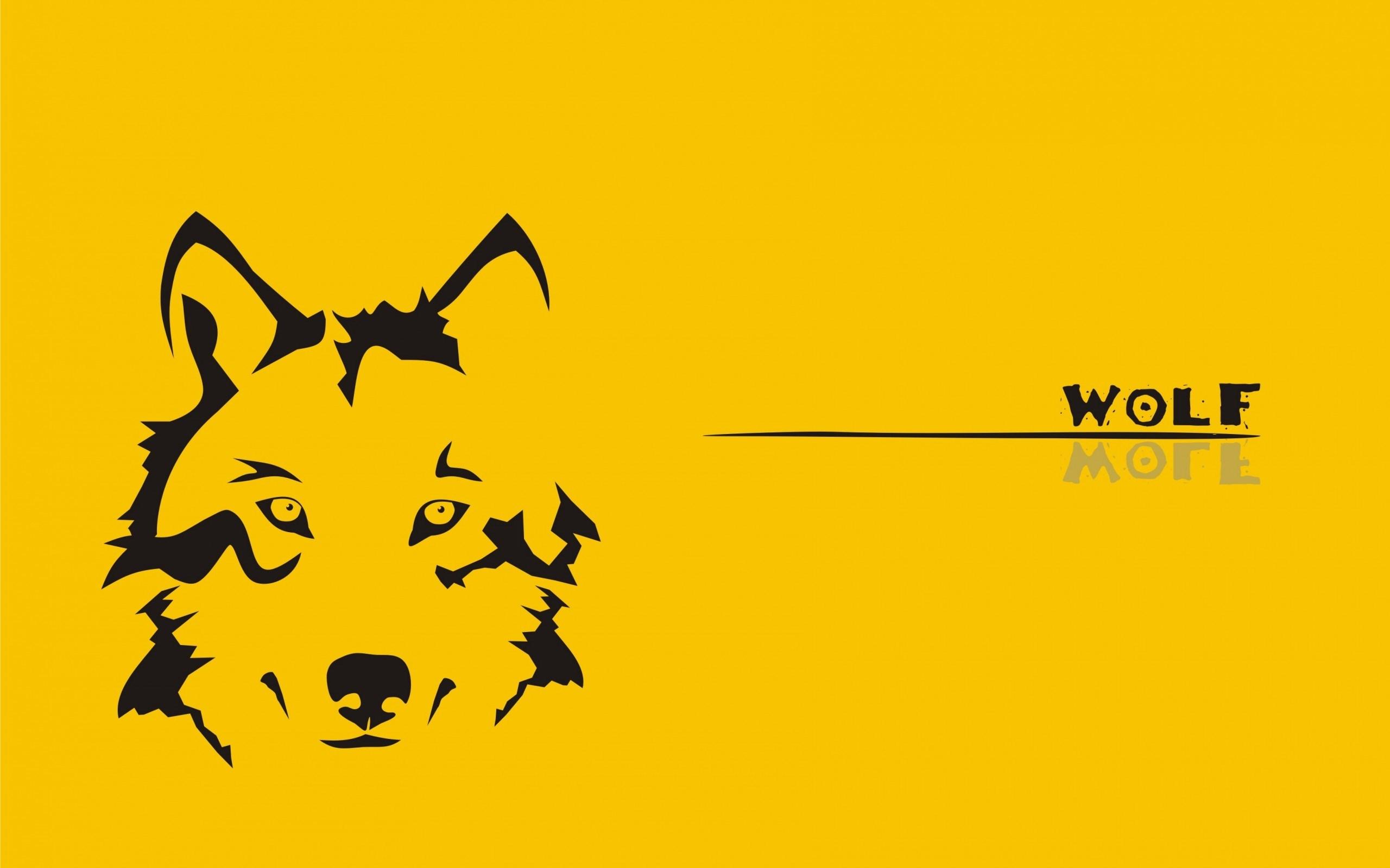 Wolf Yellow Art