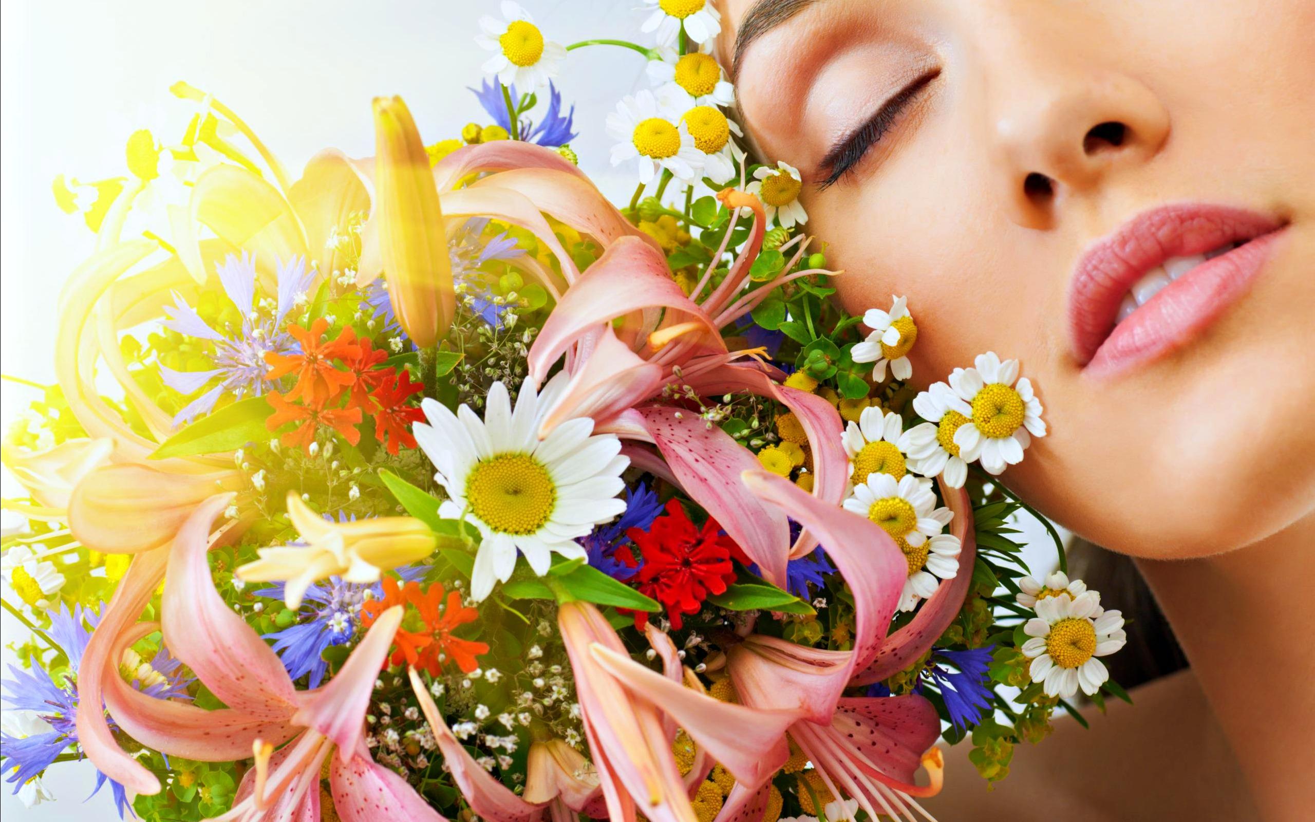 Woman love Flower