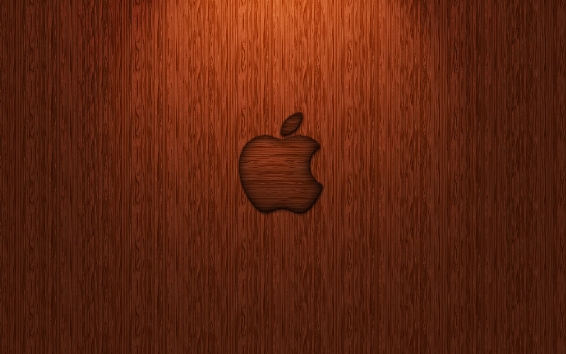 Wooden Apple Logo Wallpaper