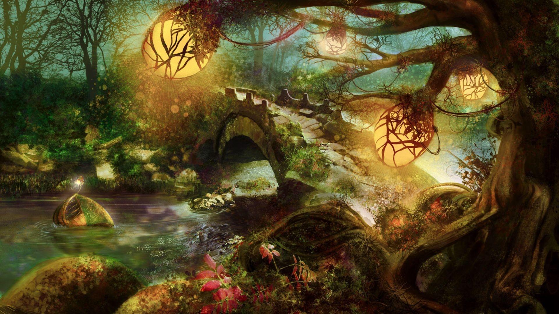 Woodland Fantasy Wallpaper