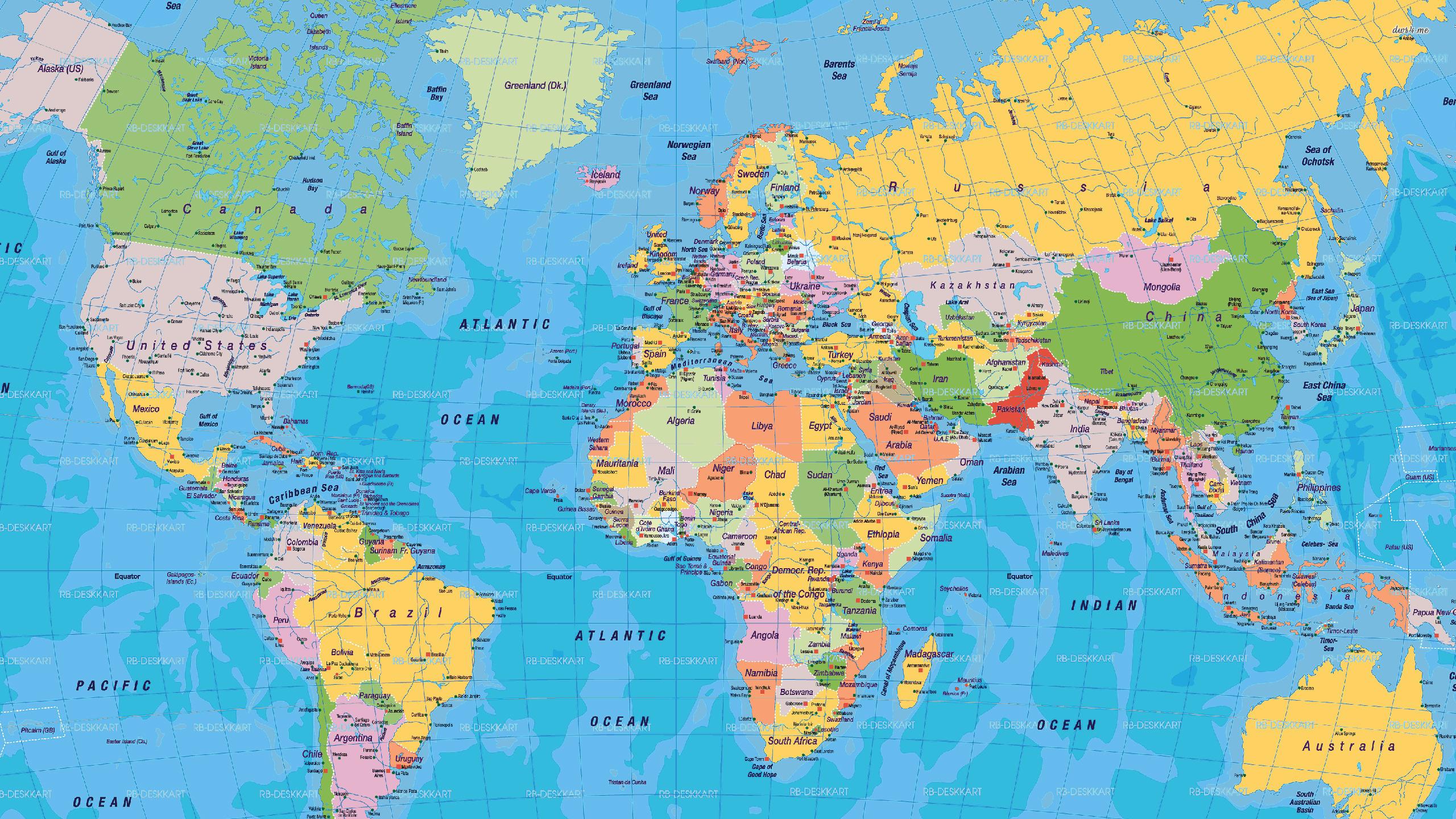 ... World map wallpaper 2560x1440 ...