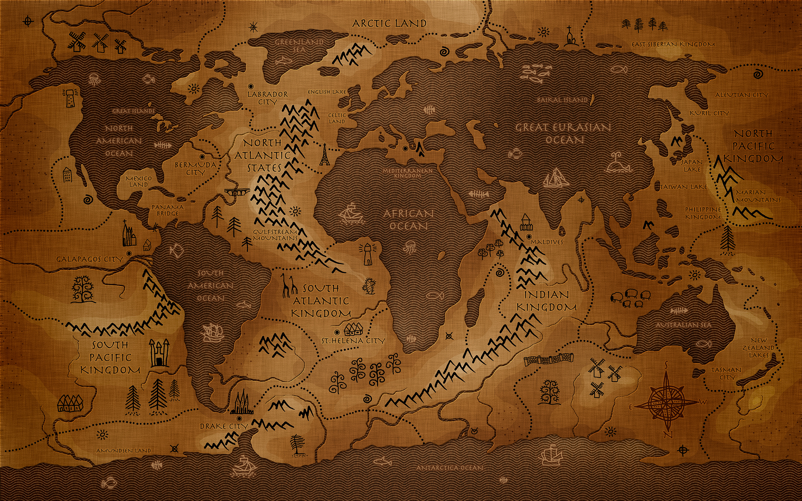 World Map wallpaper | 2560x1600 | #55907