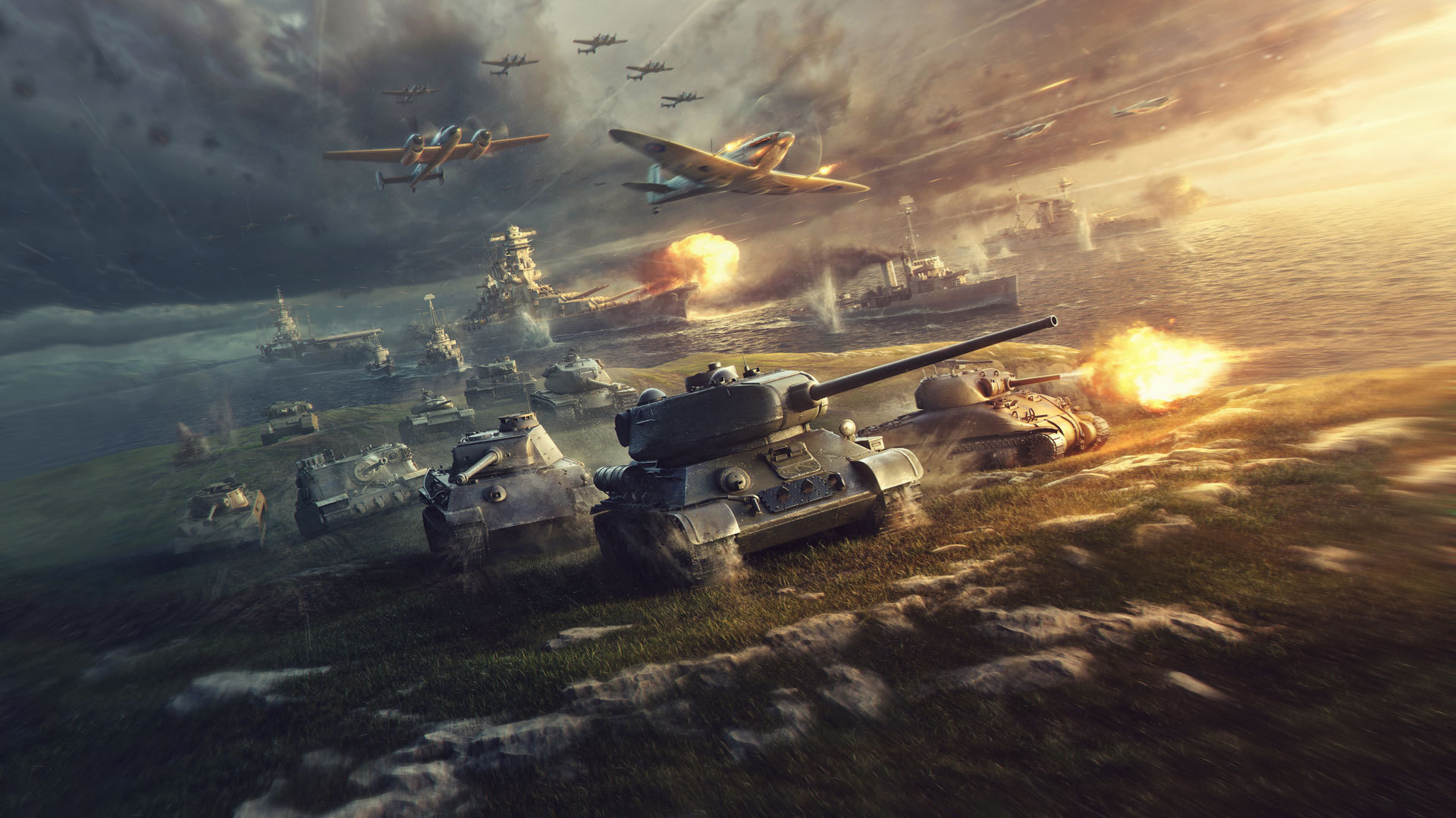 Preview wallpaper world of tanks, world of warplanes, world of warships, wargaming net