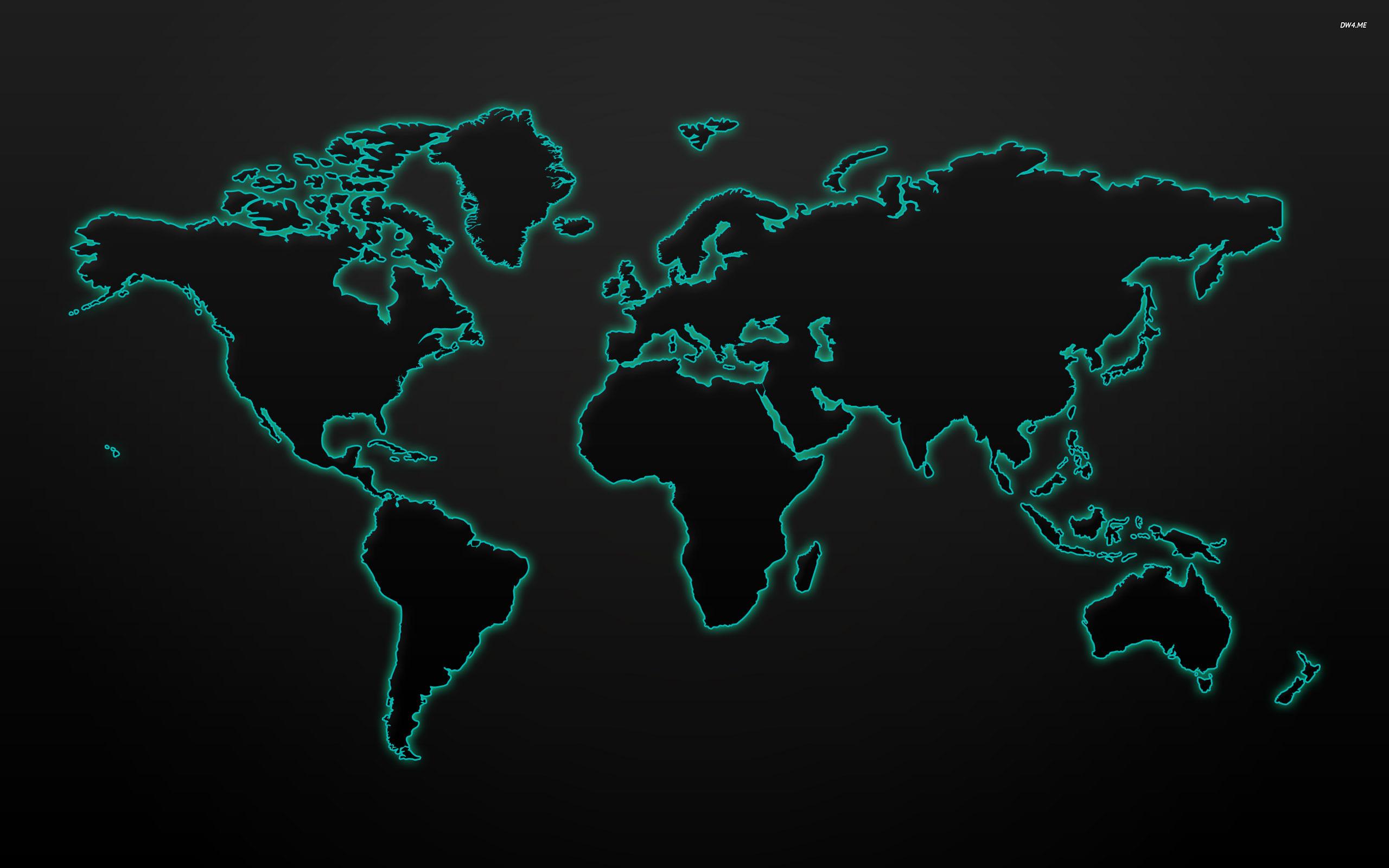 ... Glowing world map wallpaper 2560x1600 ...