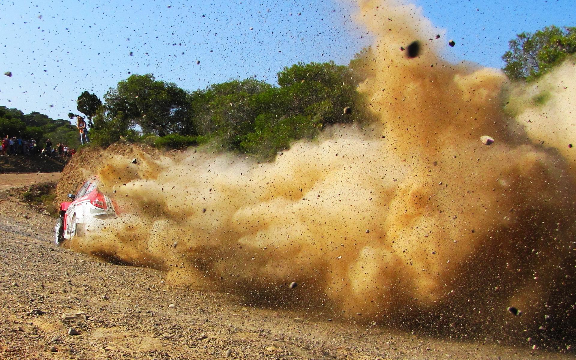 Wrc rallye dust stones