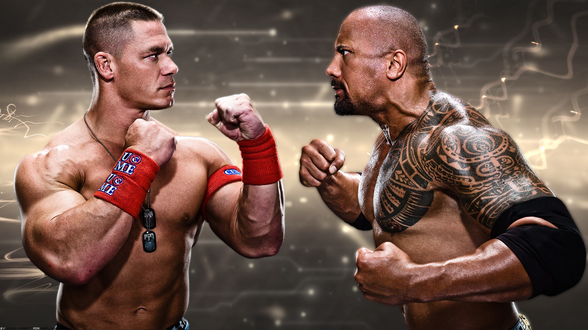 WWE John Cena The Rock Dwayne Johnson