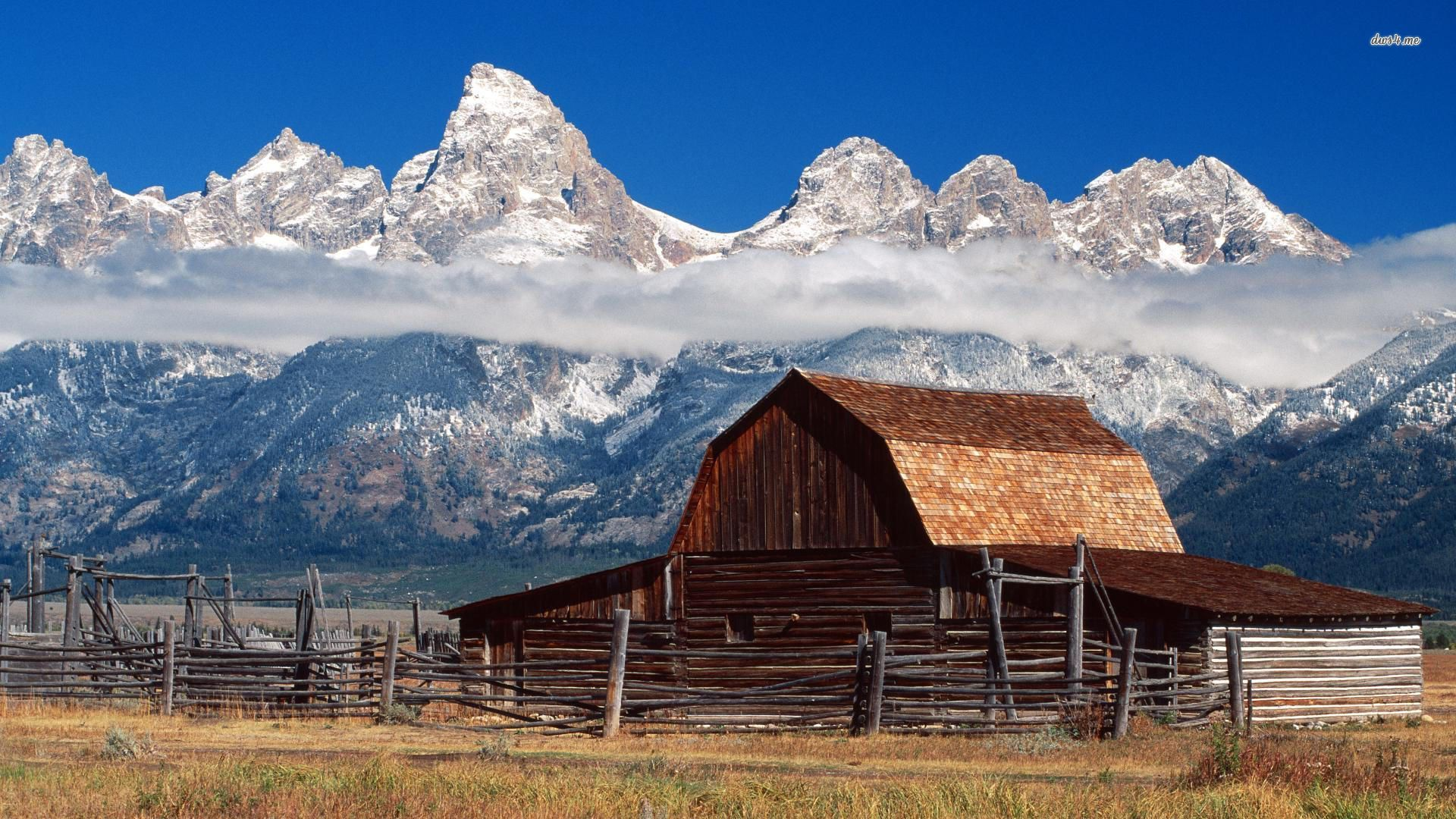 Teton Barn Jackson Hole Wyoming Nature Wallpaper #105085 - Resolution 1920x1080 px